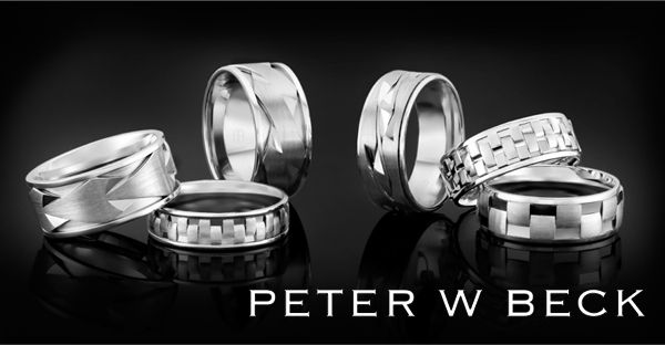 White Gold elegance by Peter W Beck. #Australia #AustralianMade #PeterWBeck #Wedding #Rings #White #Gold #Stunning #Amazing #Beautiful #Gorgeous #Dress #WeMakeLove #Love