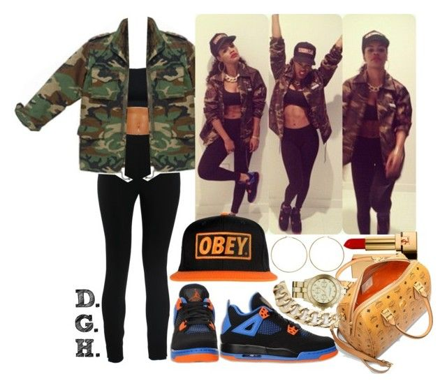"""""""Teyana Taylor."""" by dopegenhope ❤ liked on Polyvore featuring NIKE, Valentino, Retrò, OBEY Clothing, Nadri, Jennifer Fisher, Marc by Marc Jacobs, Yves Saint Laurent and MCM"""