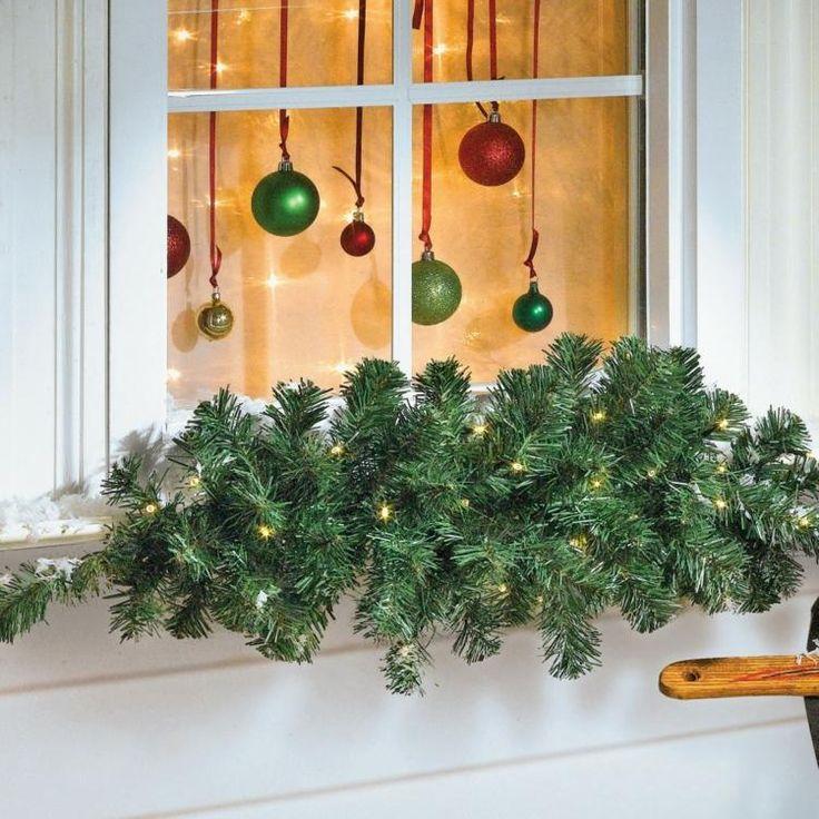 21 Best Fenetres Decoration De Noel Images On Pinterest Natal