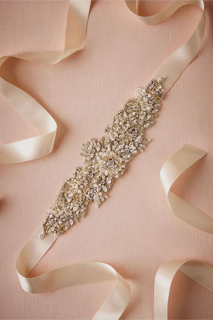 BHLDN Le Champagne Sash in  Shoes & Accessories Belts & Sashes at BHLDN