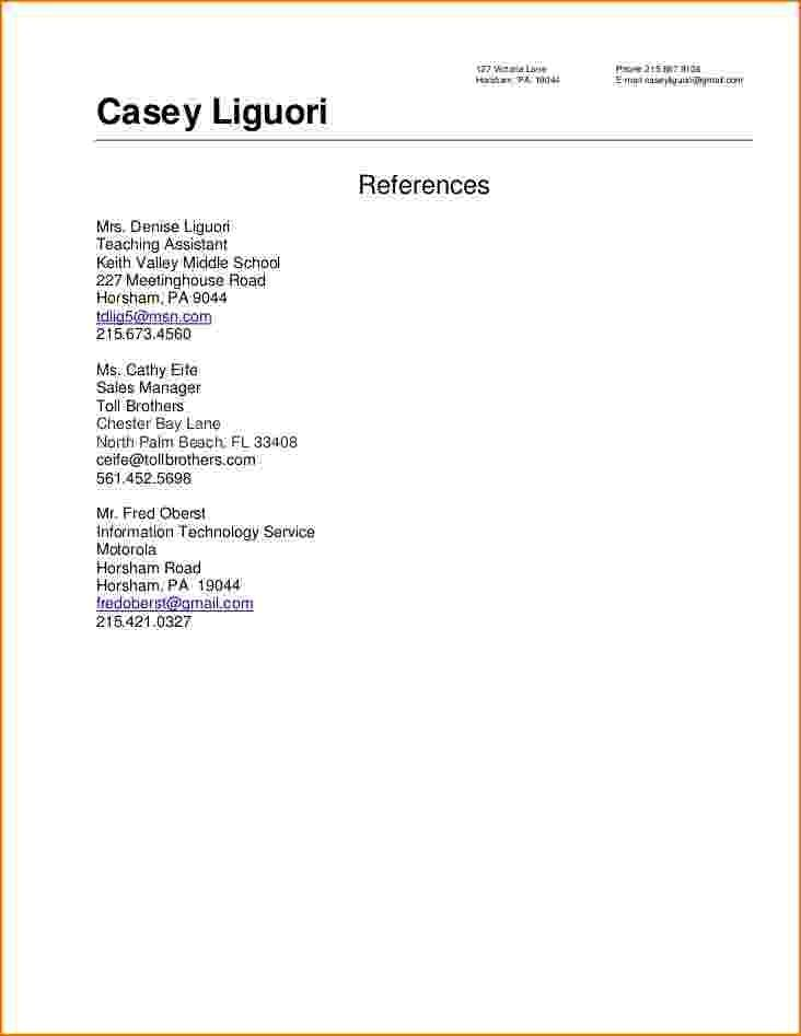 Reference Resume Sample Best Professional Resumes Letters Templates