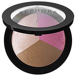 What it is:A trio of luminizer, matte satin blush, and bronzer to perfectly contour and highlight.   What it does: This three-in-one formula is made of ultralight, micronized pigments that effortlessly blend to enhance skintone and give you a flaw