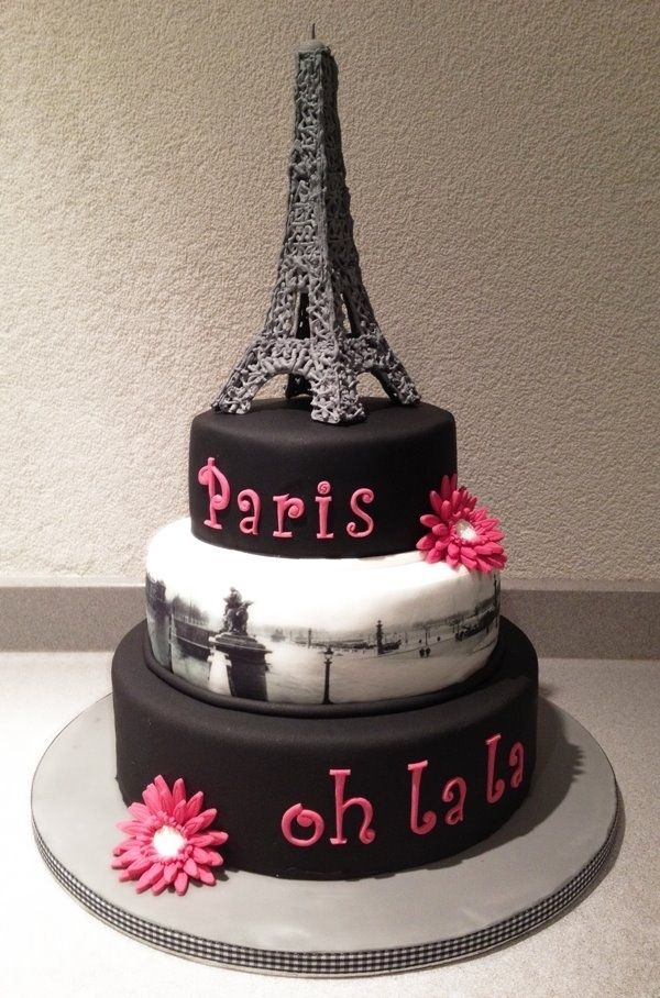 Paris theme cake