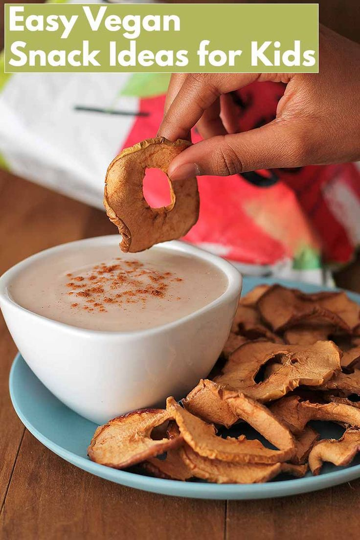 Snack Ideas For Active Kids And An Easy Vegan Yogurt Dip Recipe Vegan Snack Recipes Healthy Sweet Snacks Vegan Snacks Easy
