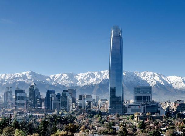 Santiago de Chile (skyline, crystal tower)