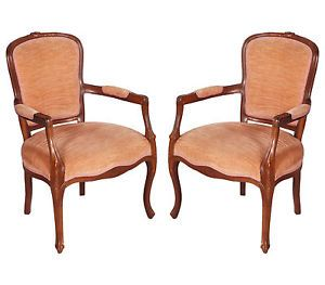 ANTIQUE PAIR OF CHAIRS IN SOLID WALNUT  of the early twentieth century