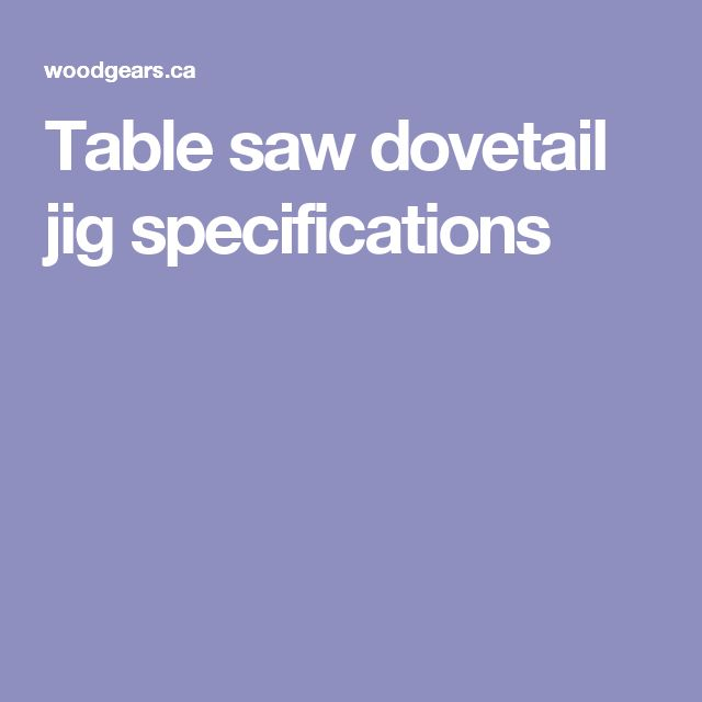 table saw dovetail jig pdf