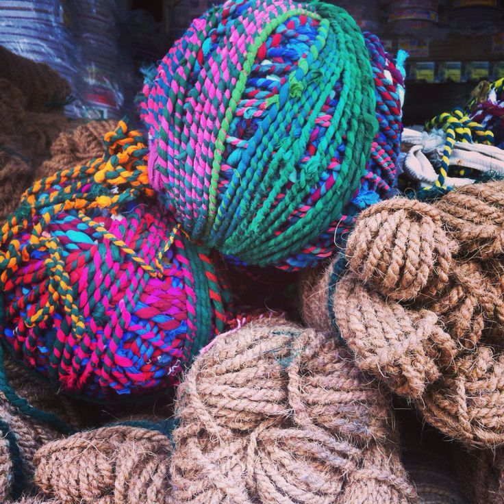 Colorful yarn.