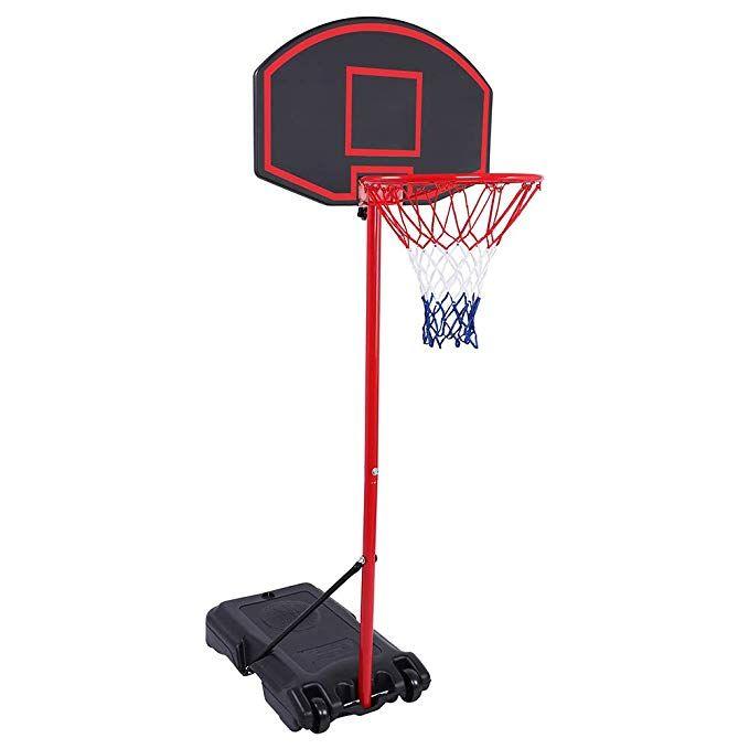 Amazon Com Johan Goal Portable Basketball Hoop Portable Mini Basketball Hoop System For Kids Us Stock Height Adjustable 5 4 6 7 Ft Basketball Hoop Indoor Ou