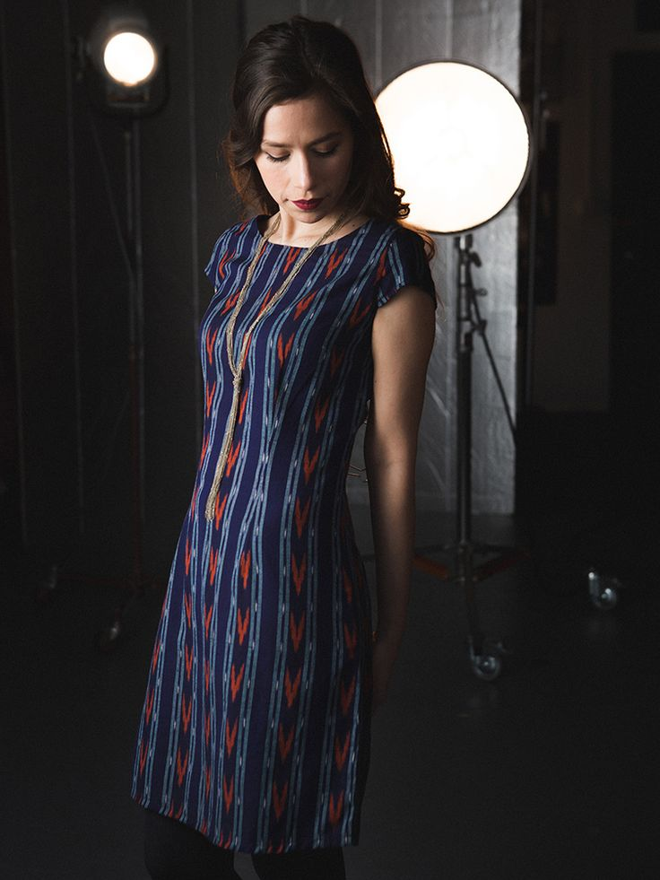 Turn heads with a hand-woven ikat dress that's fit to flatter. Mata Traders Ikat Mini Dress #fairtradefashion