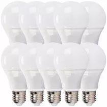 Kit 10 Lampada Led 9w Bulbo Soquete E27 Bivolt A60 Luz Fria