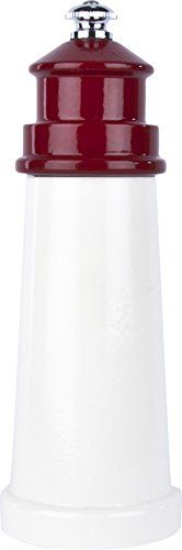 Fletchers Mill Lighthouse Pepper Mill WhiteRed  6 Inch ** Be sure to check out this awesome product.