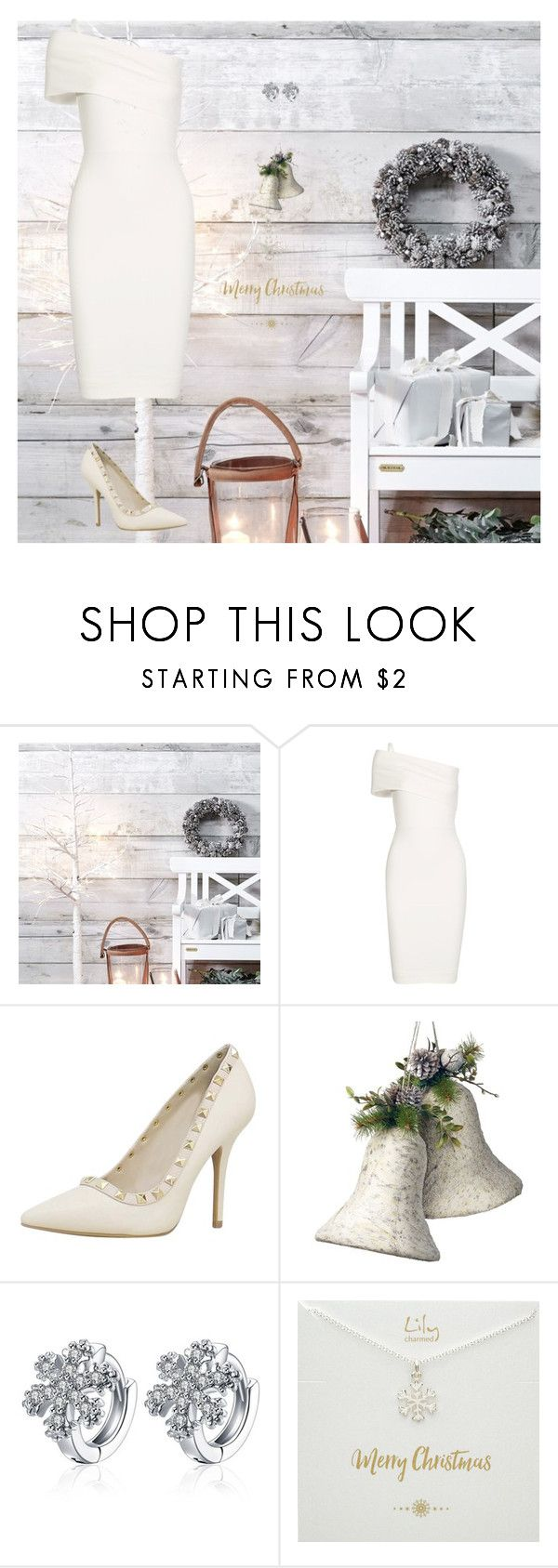 """Holiday Dress"" by carlafashion-246 ❤ liked on Polyvore featuring Michelle Mason and National Tree Company"