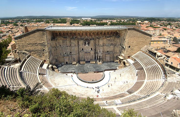 The Théâtre antique d'Orange is an ancient Roman theatre, in Orange, southern France, built early in the 1st century CE. It is owned by the municipality of Orange and is the home of the summer opera festival, the Chorégies d'Orange