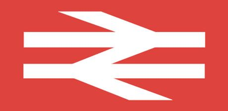 Incredible logo for British Rail by their Design Research Unit. Margaret Calvert was involved in creating the Rail alphabet too who later went on to help with the Tyne and Wear Metro.