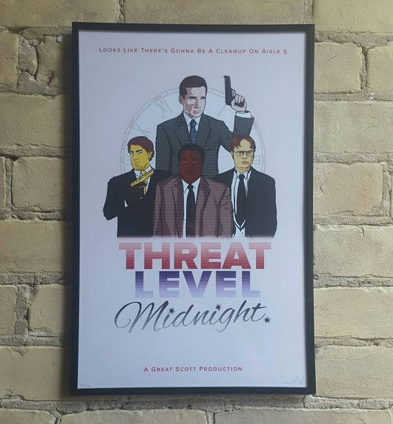 Threat Level Midnight Movie Poster | Etsy