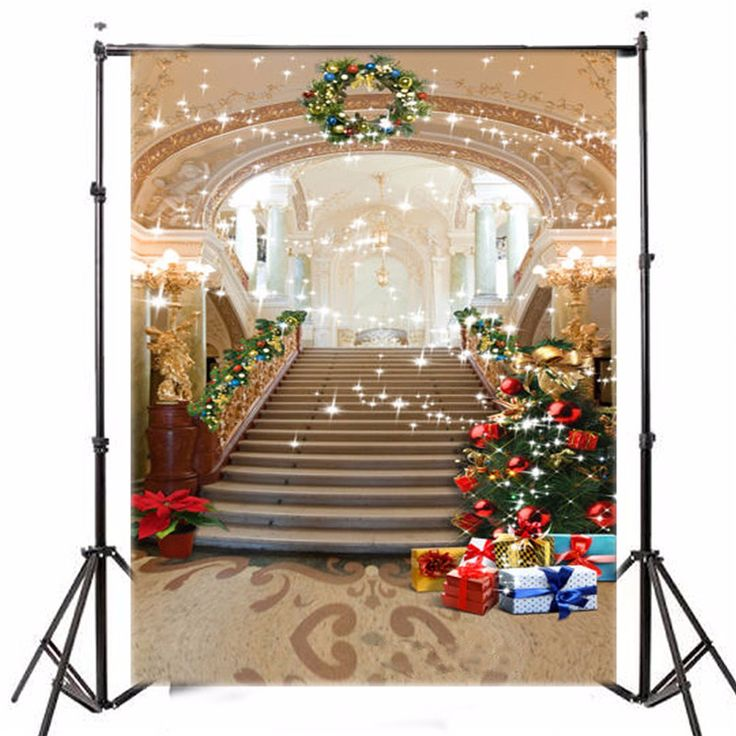 5x7ft Photography Background Vinyl Christmas Tree European Palace photographic Backdrop for Studio Photo Prop cloth 1.5x2.1m #Affiliate