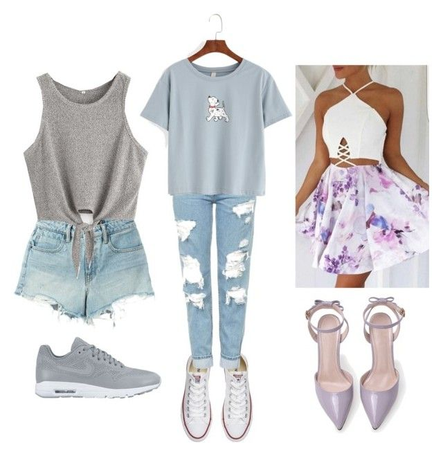 """""""💝"""" by adine233 on Polyvore featuring Converse, Topshop, WithChic, T By Alexander Wang and NIKE"""