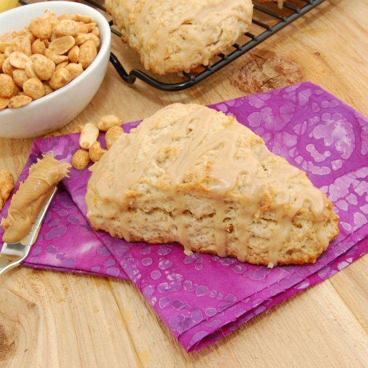 Peanut Butter Banana Scones