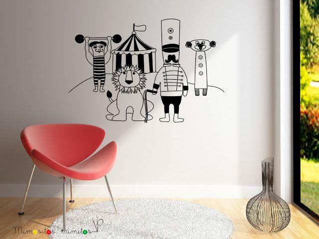 #vinilos #decoración #interiores #interiorismo #circo #domador #león #payaso #forzudo #circus #carnival