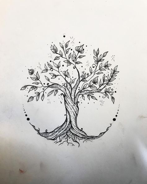 "Like 60 times, 3 comments – Elisa Treg Tattoo (@elisatreg) on ​​Instagram: ""#borderline #me #treeoflife #treeoflifetattoo #sketch"