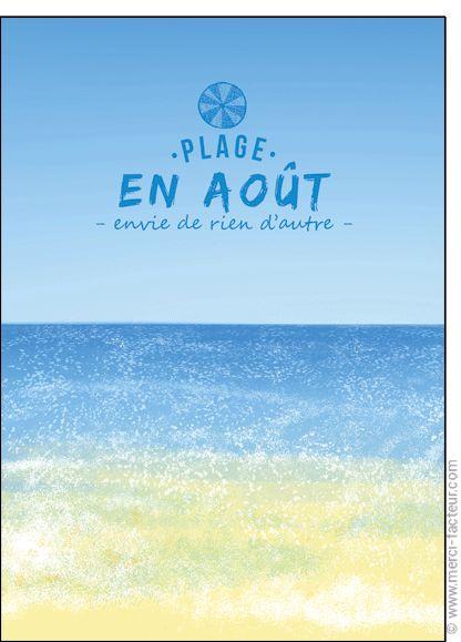 #carte #aout #vacances #piscine #plage #voyage #tourisme #relax #repos #soleil  Carte Place en ao�t, rien d'autre pour envoyer par La Poste, sur Merci-Facteur !