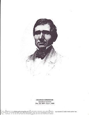 Charles Goodyear American Inventor Vintage Portrait Gallery Poster Print