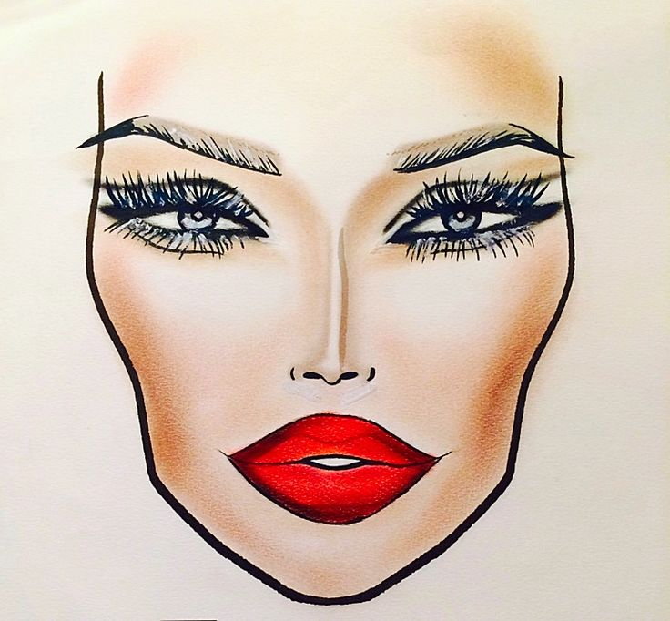 MAC Retro Matte Liquid Lipcolour inspired facechart