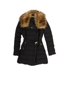 Pudded jacket with fur