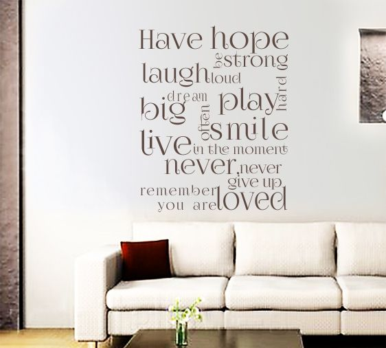 48 best Wall Writing Stickers images on Pinterest | Wall ...