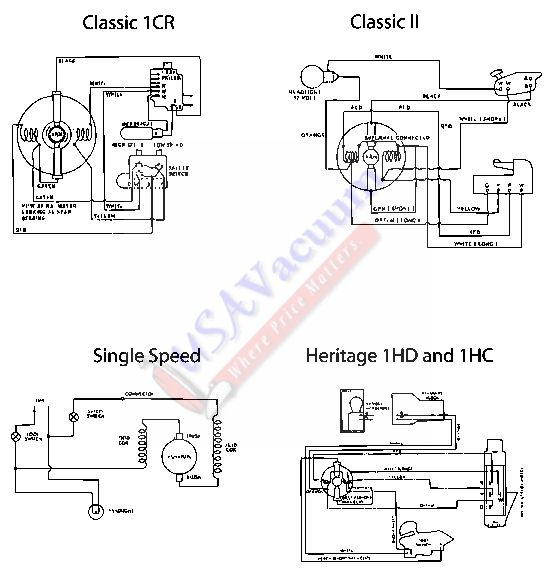 Kirby Classic I (1CR) Wiring Diagram & Schematic