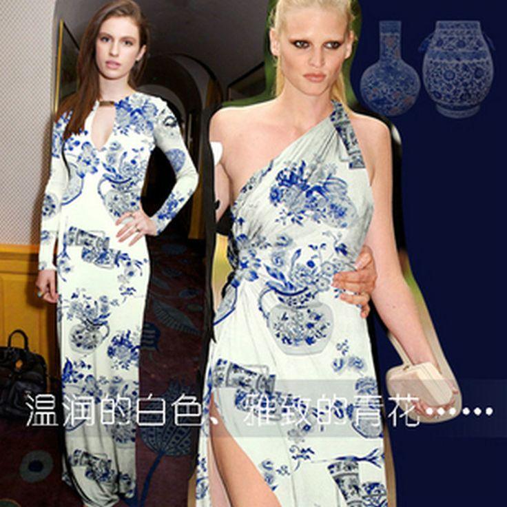 Goedkope Chinese stijl blauw en wit porselein natuur zijde digital silk charmeuse satijnen stof voor zijden jurk, koop…