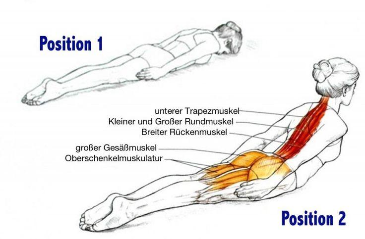 Mach diese einfache Übung nur 3-mal die Woche und du bist deine Rückenschmerzen endlich los. Ich bin begeistert!
