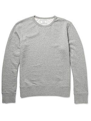 Officine Generale Loopback Cotton Jersey Sweatshirt, £105