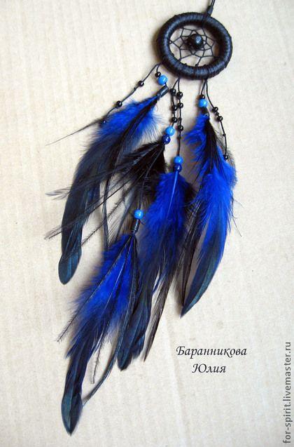 Ловец снов для машины - тёмно-синий,ловец снов,dreamcatcher,оберег,для машины