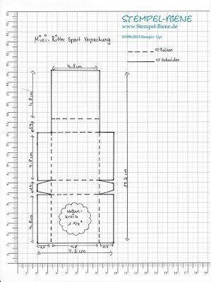 Stempel-Biene: Anleitung für das Mini Ritter Sport Schächtelchen