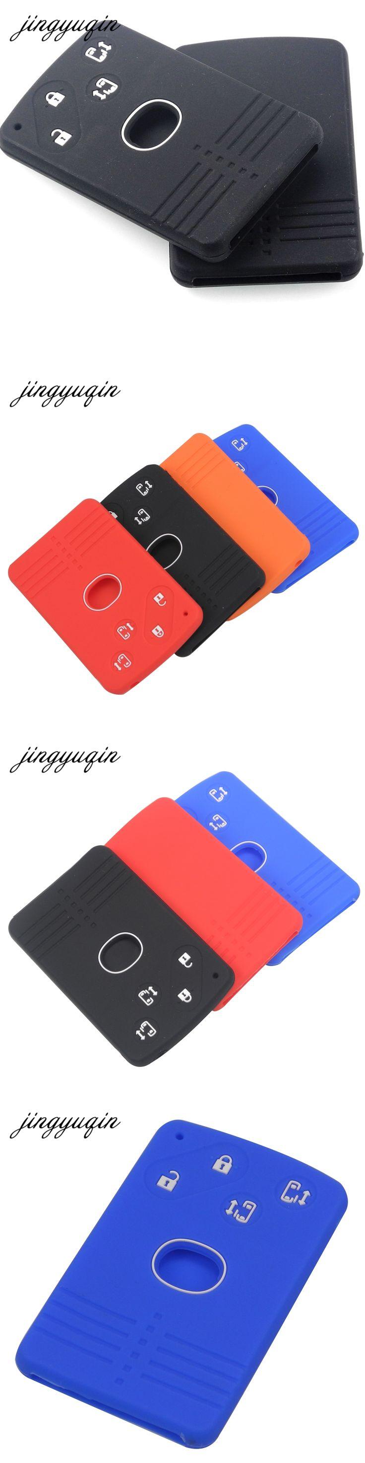 jingyuqin Silicone Rubber Car Key Fob Cover for Mazda 5 6 8 M8 CX-7 CX-9 Smart Card Remote Key 4 Button Case Skin Protector