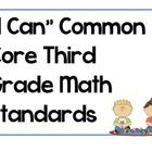 "*FREE* ""I Can"" Common Core ELA standards posters. These posters go along with my Focus Wall Subject Headers. Store posters in sheet protectors in a..."
