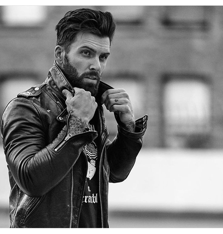 Levi Stocke Black Leather Biker Jacket Leather Men