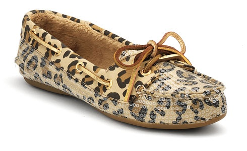 I may like this version even better: Sperry Skiff Moccasin w/Leopard Sequins!