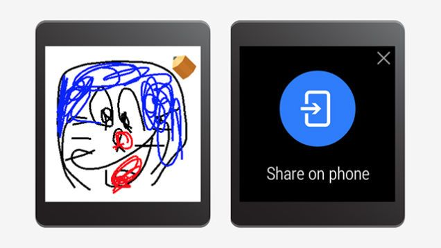 Doodling Emoji support on Android Wear