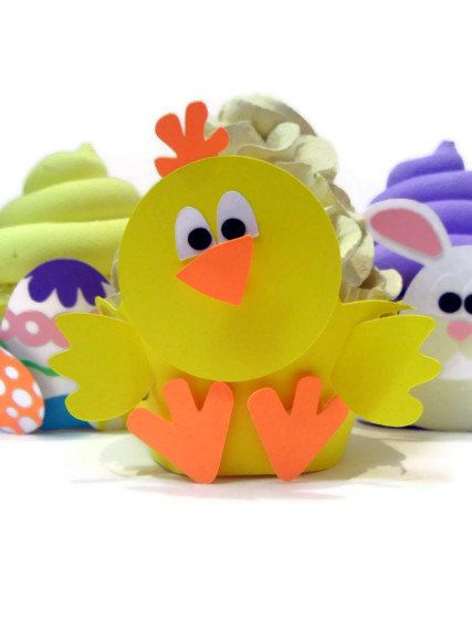 Baby Chick Cupcake Wrapper.... COULD WRAP IT AROUND A PLANT FOR MOTHERS DAY
