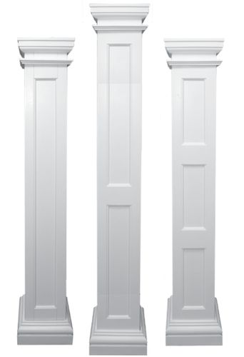 Square pillars and columns | Recessed Square Load-Bearing Fiberglass Columns