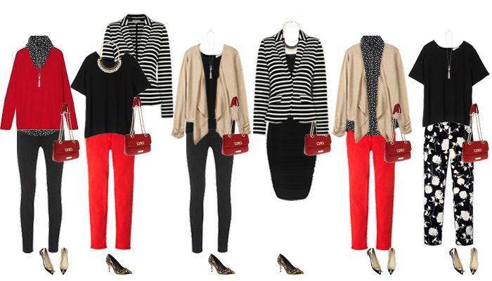 Here is a mini break capsule wardrobe for a casual holiday. The colour scheme is monochrome, Sand and Red for the colour scheme. Here are the capsule wardrobe pieces: Coat Uniqlo // Jacket Whistles...