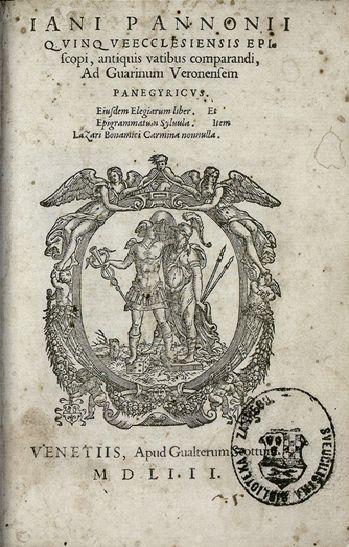 Jan Panonije, u starijoj literaturi poznat kao Ivan Česmički (1434.–1472.), humanist, diplomat i pjesnik. Zajedno s ujakom Ivanom Vitezom i zagrebačkim biskupom Osvaldom Thuzom organizirao je urotu protiv kralja, a kada je ona otkrivena, Jan u bijegu prema Veneciji umire na Medvedgradu. Napisao je mnoge epigrame i elegije od kojih se ističu U smrt majke Barbare i Svojoj duši.