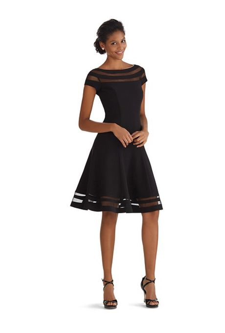 Brides.com: 49 Mother-of-the-Bride Dresses You Can Buy Right Now . Illusion stripe fit & flare dress, $180, White House Black Market