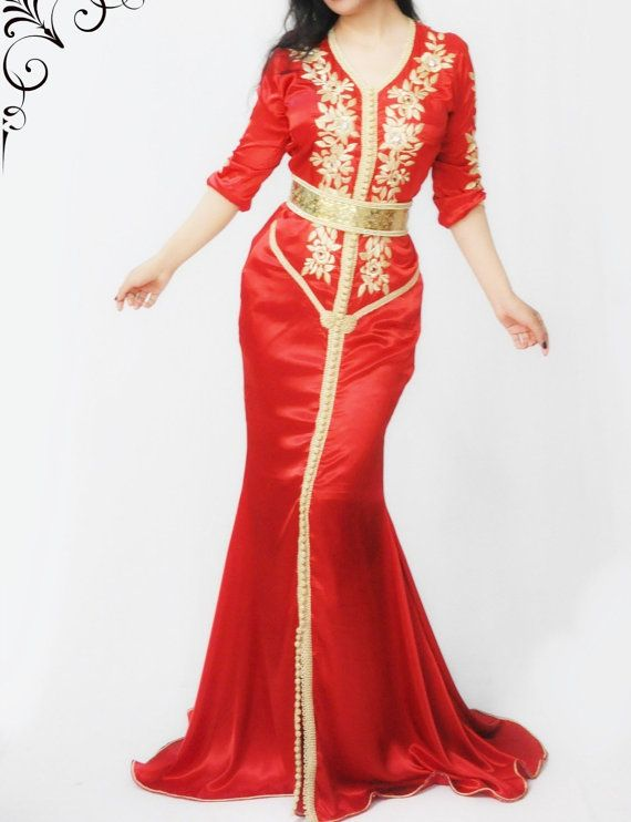 Prachtige zeemeermin maxi jurk dubai rode van LeidaMaiden op Etsy