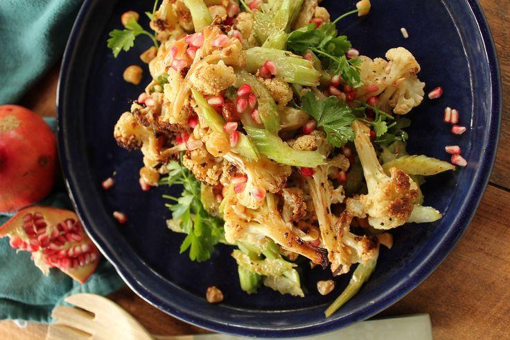 Cauliflower Salad with hazelnuts and pomegranate