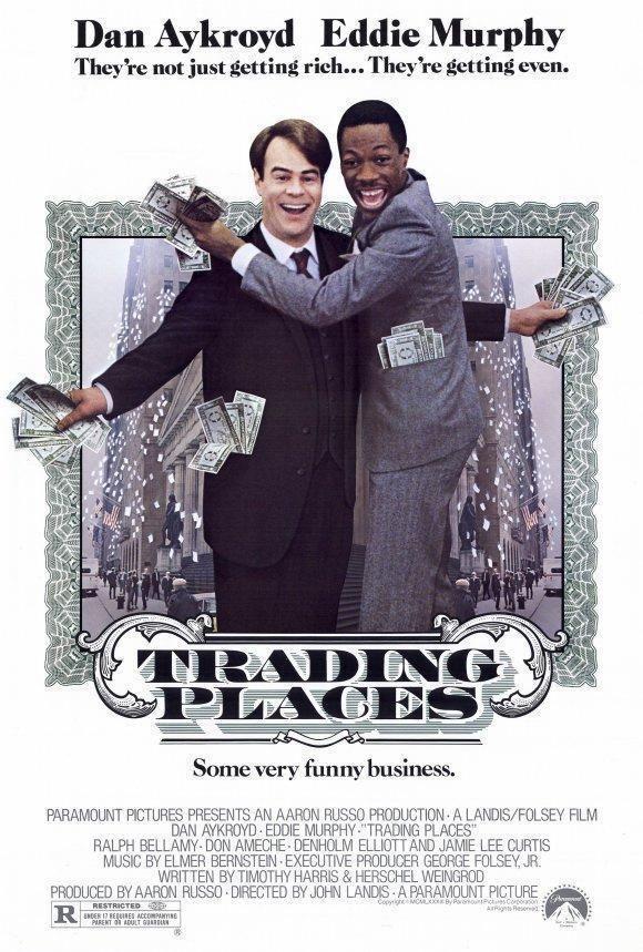 Trading Places Movie Poster 27 X 40 Eddie Murphy Dan Aykroyd A