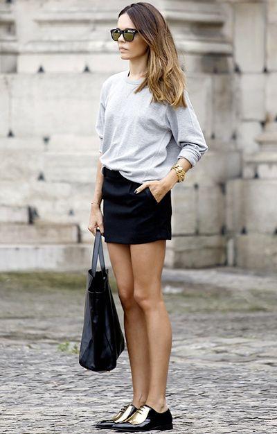 """""""Rien de tel u'une petite touche de doré pour réhausser un look casual chic"""" dit-elle :)  - Tendances de Mode"""
